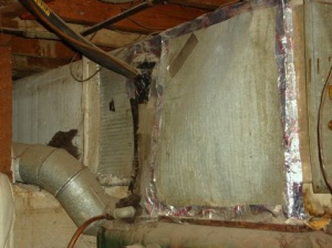 Sheets of metal switched with ASBESTOS!